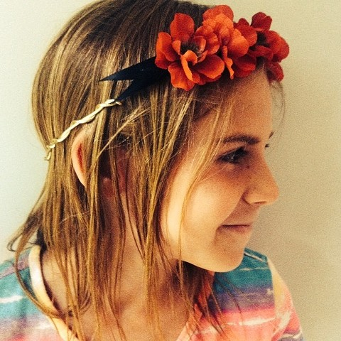"Beeswax ""Flower Girl"" Crown"