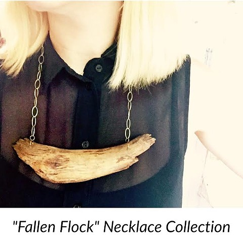 Fallen Flock Collection. Organically made Jewelry.