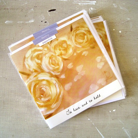 To Have and to Hold, Wedding card commissioned and licensed by Paperlink from Linda Boucher, artist.