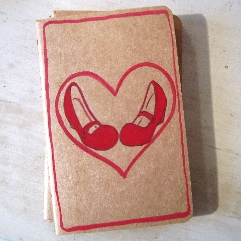 Linda Boucher's range of Moleskine notebooks are extremely popular, and make great gifts. This particular book is perfect for a shoe addict, and features a cute pair of red Mary Janes, surrounded by a red love heart. Linda's work has been loved and admire