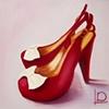 Maraschino Cherry Bow Shoes by Linda Boucher