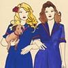 Two Girls Sketch by Linda Boucher
