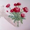 Ranunculus Flowers Original Oil Painting by Linda Boucher