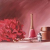 Still Life with Hippo Original Oil Painting by Linda Boucher