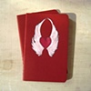 Wings of Love Red Moleskine Notebook by Linda Boucher