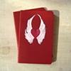 Wings of Love Red Moleskine Notebook by Linda Boucher