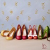 Party Shoes Original Oil Painting by Linda Boucher