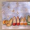 Vintage Shoes  Sketch by Linda Boucher