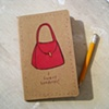 I Love Handbags Moleskine Notebook by Linda Boucher