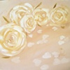 Confetti & Roses Original Oil Painting by Linda Boucher