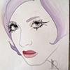 Long Eyelashes  Sketch by Linda Boucher
