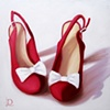 Two Step Oil on Canvas by Linda Boucher