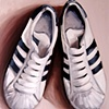 Adidas Superstars Original Oil Painting by Linda Boucher