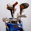 Golf Original Oil Painting by Linda Boucher