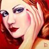 Scarlet Original Oil Painting by Linda Boucher