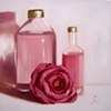 Perfume and Roses Original Oil Painting by Linda Boucher