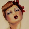 Pucker Up Original Oil Painting  by Linda Boucher