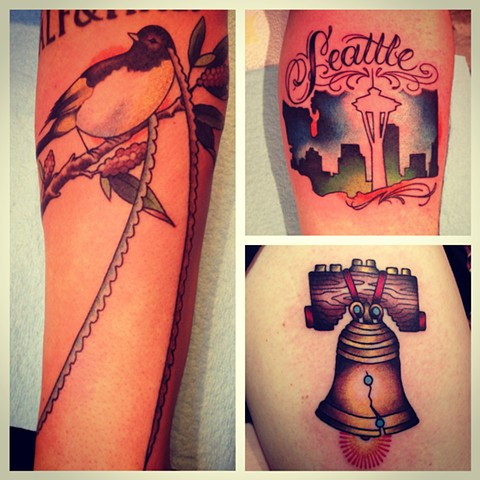 three smaller pieces done in seattle