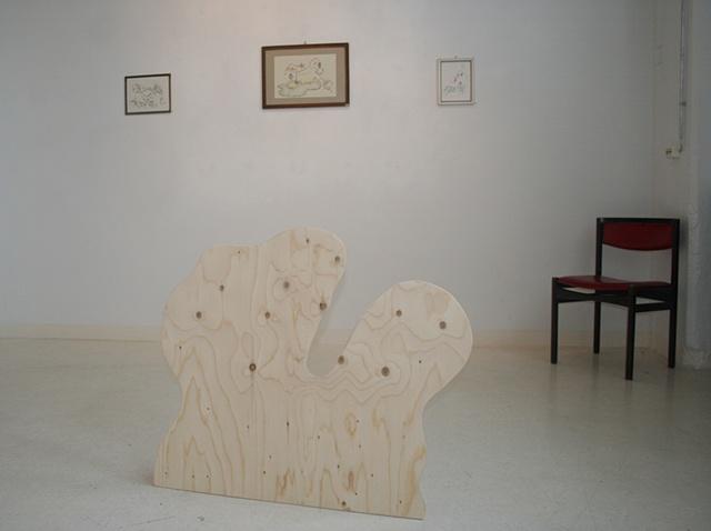 Lítið brot úr sýningunni Tilfinningar hljóta að líta út eins og amöbur / A little view of the exhibition Feelings must look like amebas - summer 2011, Rekjavík.