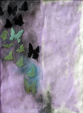 Butterfly seires-purple net
