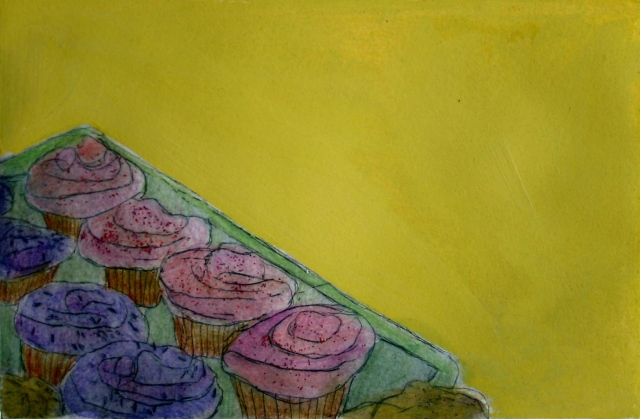 Left Cupcake tray colored