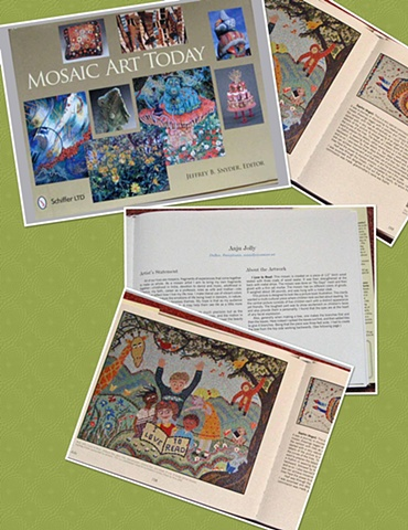 I Love to Read published in Mosaic Art Today