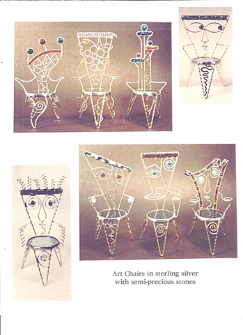 Miniature chair sculptures