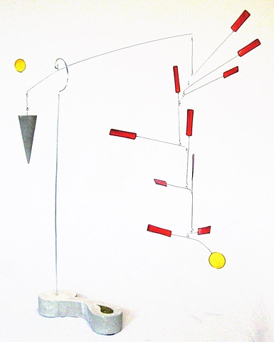 Mobile, kinetic sculpture, art, moving sculpture, funky art