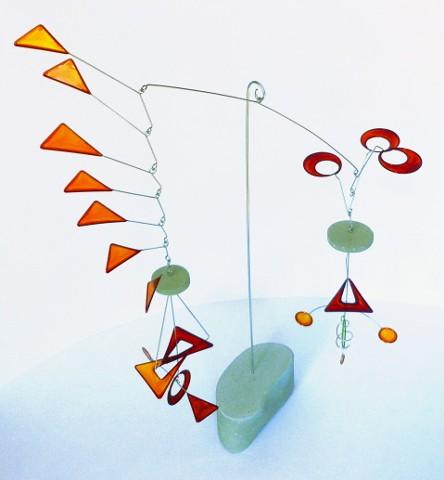 Kinetic Sculptrues, mobiles, art, moving sculptures, funky art