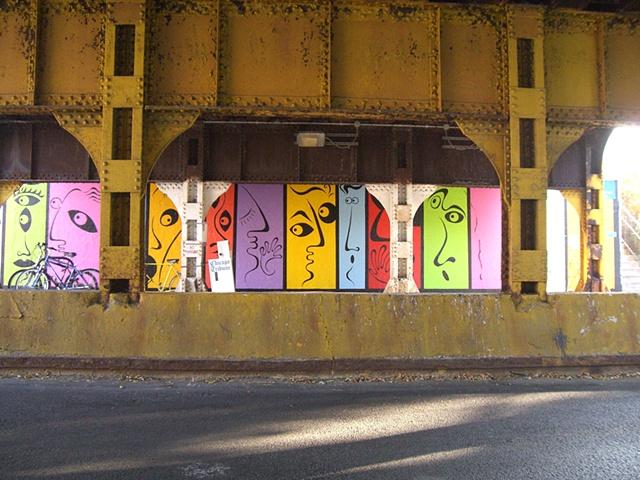 art, mural, faces, faces of Rogers Park