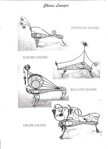 Miniature Chaise Lounge sculptures