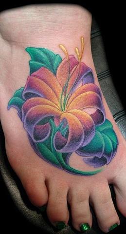 tattoo floer foot color  salisbury maryland
