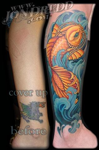 koi fish color tattoos crucial tattoo studio salisbury maryland ocean city md delaware