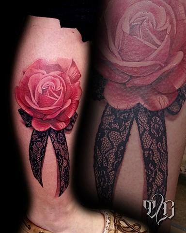 rose lace ribbon