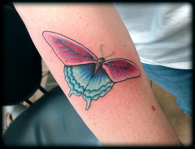 butterfly tattoos crucial tattoo studio salisbury maryland ocean city md delaware