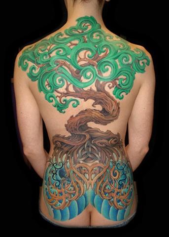tree tattoos celtic knot roots tattoo salisbury maryland