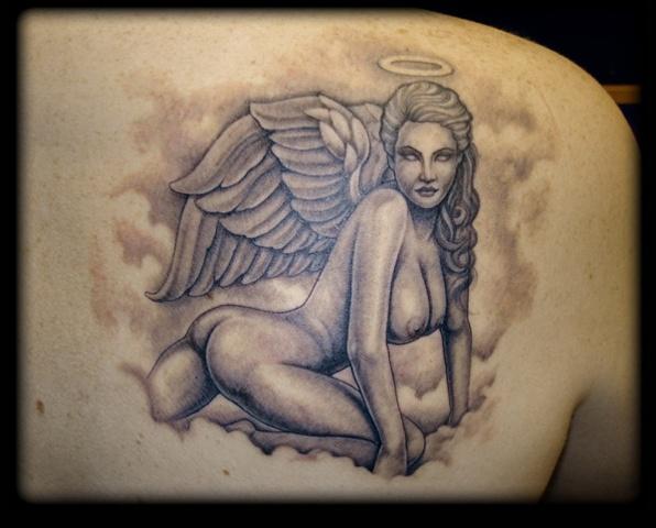 tattoo angel nude woman naked angel girl tattoos salisbury maryland