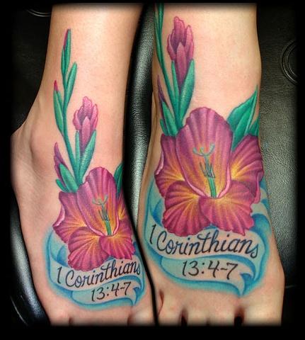 tattoo foot flower banner tattoos salisbury maryland