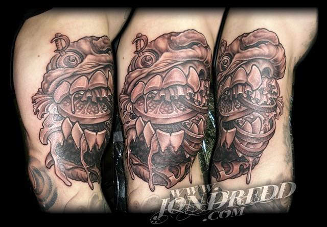 burger monster crucial tattoo studio salisbury maryland delaware jon dredd kellogg tattoos