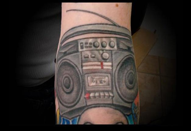tattoo boombox ghetto blaster old school salisbury maryland