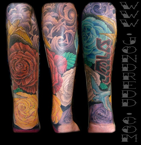 joshwatts holy shit jesus roses snake apple crucial tattoo studio salisbury maryland sparrow roses