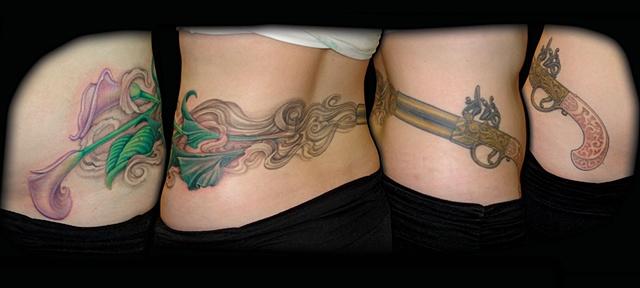 tattoo smoke guns flowers tattoos salisbury maryland