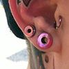 2 gauge and 4 gauge piercings