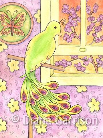 bird, tame, window, opportunity,