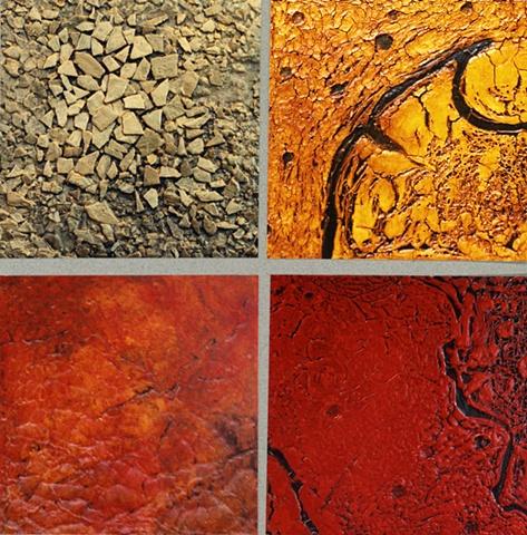 textures, mixed media