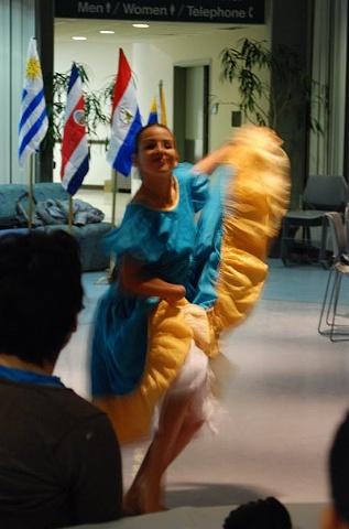 Peruvian folk dancer