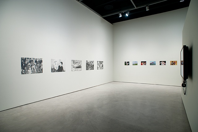Installation view (Bring Our Curses Home) Art Gallery of Windsor, Windsor, Ontario