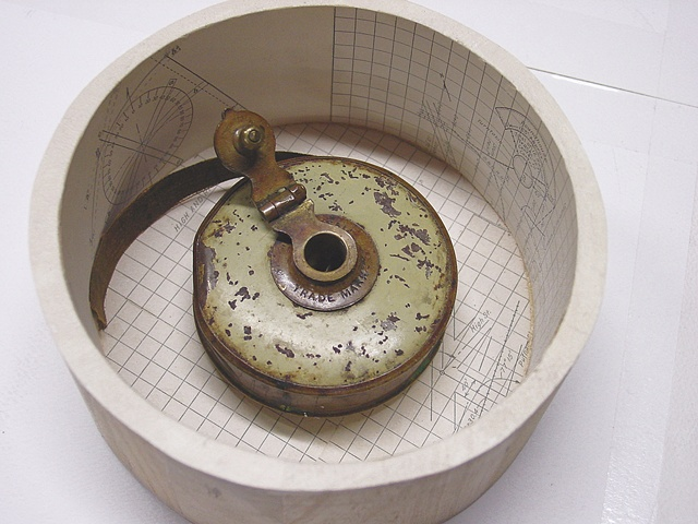 Relics and Reliquaries: Tape Measure  Inside Reliquary Box