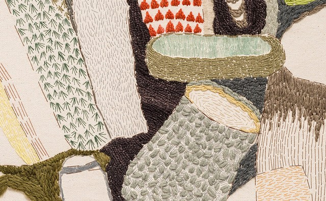 detail: Dishes (sewn study no. 4)