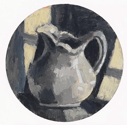 """White Pitcher, oil on canvas, 12"""" x 12"""""""